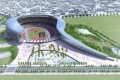 高雄世運會主場館-流線型的主場館外觀照片