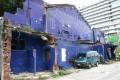 海安路藝術街-藍曬圖照片