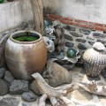 二崁古厝聚落(二崁傳統聚落)-家家庭院間常見各式巧思的擺飾照片