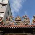 三峽福安宮-屋頂上方雕飾照片