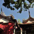 吳鳳廟 與 吳鳳成仁地-飛翹的屋簷照片
