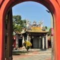 吳鳳廟 與 吳鳳成仁地-吳鳳廟圓拱門入口照片
