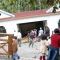 九份二山震災紀念園區-地震造成的傾斜屋照片