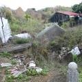 九份二山震災紀念園區-氣爆點旁的殘破房屋照片