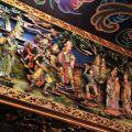 受鎮宮-廟內梁柱上的浮雕照片