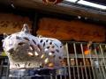 九份茶坊-鏤空的貓造型燈具, 是老闆娘拿手的作品照片