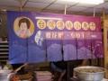 九份台灣傳統小魚干-店舖隔間用布幕的圖片照片