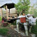 雲科生態休閒農場-石牛與木頭牛車照片