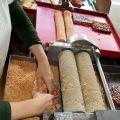 進福阿梅大灣名產花生糖-製作壓碎花生軟糖照片