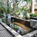 四季春曉庭園餐廳(已結束營業)-一樓園藝區的水池照片